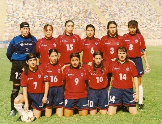 Formación de selección de Chile ante Bolivia, Campeonato Sudamericano Femenino 2003, 11 de abril