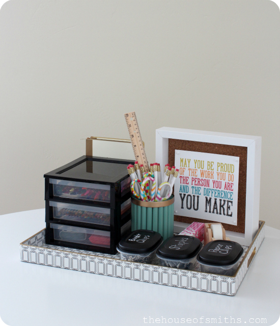 DIY homework station - thehouseofsmiths.com