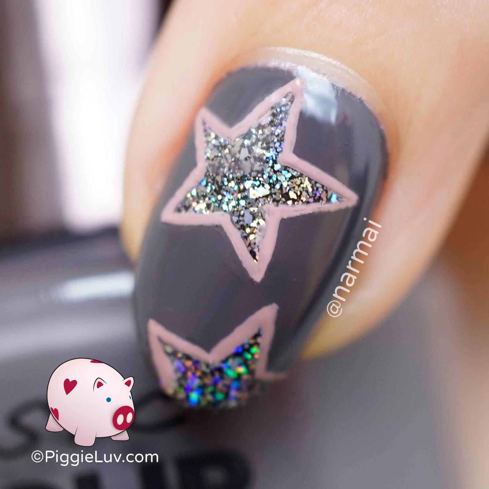 PiggieLuv: Holo stars nail art