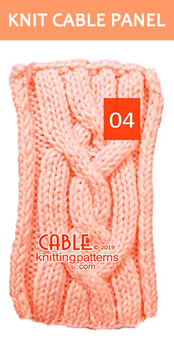 Knit Cable Panel Pattern 04, its FREE