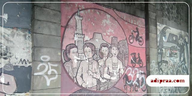 Mural Tugu Jogja di kawasan Kotabaru Yogyakarta | adipraa.com