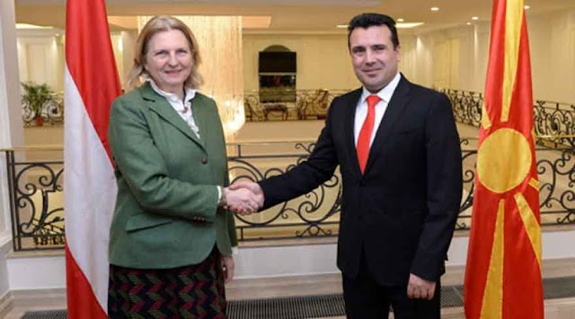 Kneissl in Mazedonien: Skopje wünscht sich rasche EU-Beitrittsverhandlungen