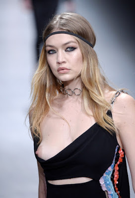 Gigi Hadid suffered nip slip at Versace Milan Fashion Week Runway