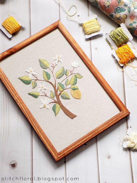 Whimsical lemon tree freebie