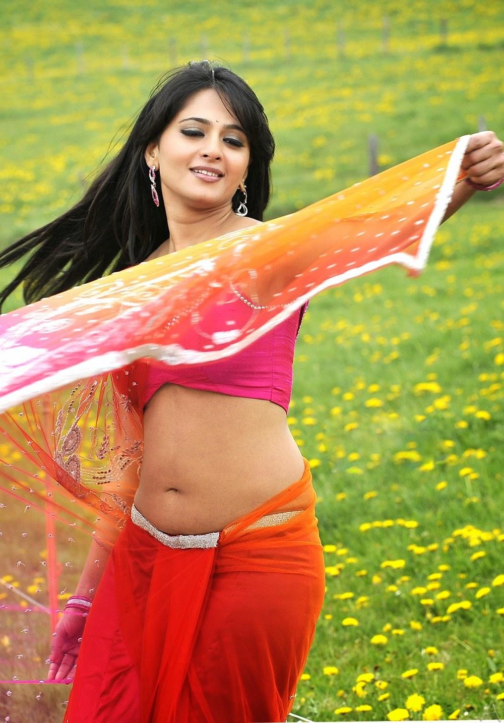 anushka shetty hot saree images