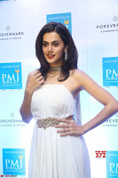 Tapsee Pannu looks Beautiful in White Sleeveless Gown Exclusive  Pics 04.jpg
