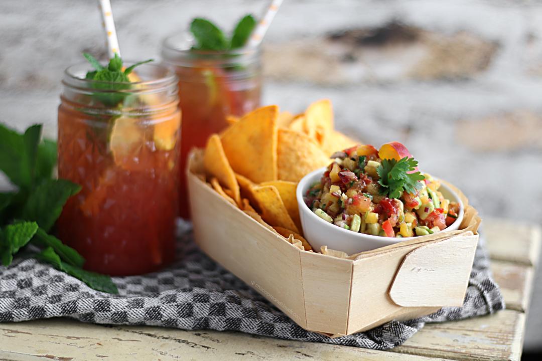 salsa rezept mit pfirsich tomaten koriander avocado