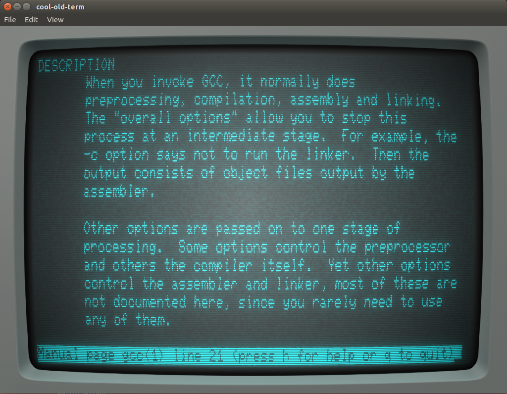 cool-old-term retro style terminal for Ubuntu 14.04