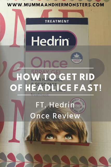How to get rid of headlice fast!! FT. Hedrin Once Review