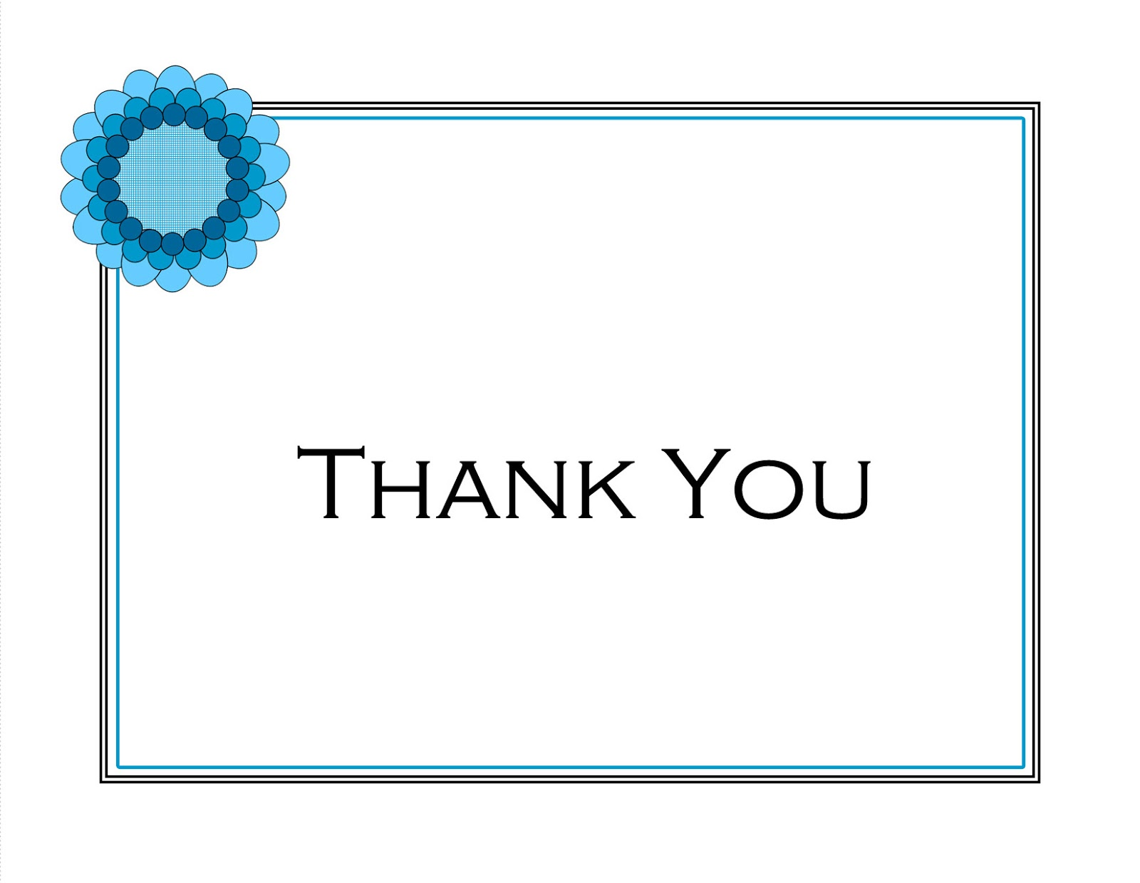 This is a picture of Fan Thank You Cards Printable Free