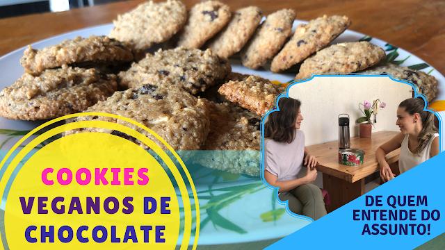 Cookies de aveia e chocolate, muito saudáveis!