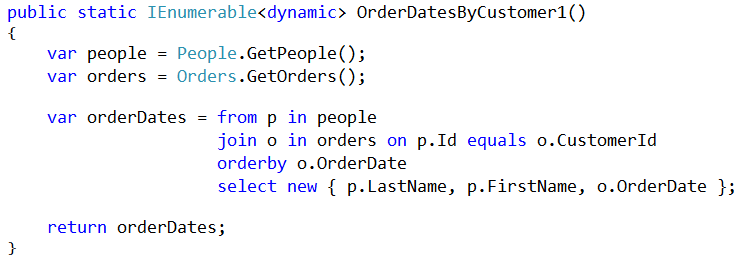 Jeremy Bytes: The LINQ Join Method: Deciphering the Parameters
