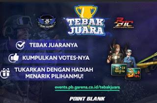 Event PB Garena Tebak Juara Tim Vote PBNC 2017