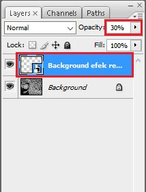 Efek retak photoshop bagian opacity