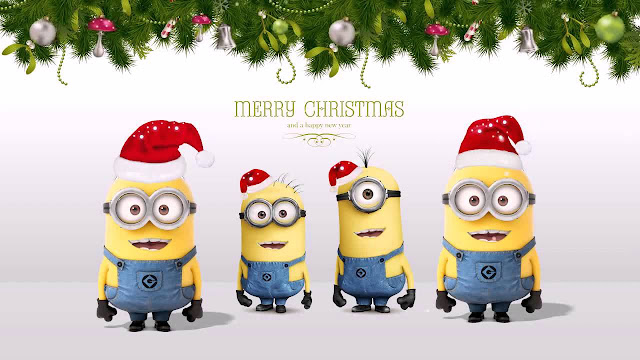 cute funny manions merry christmas funny hd images