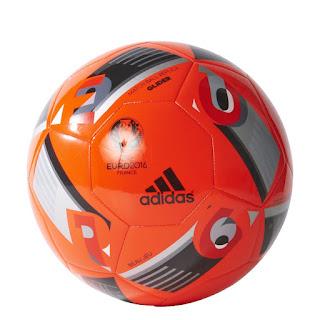 Adidas Euro 16 Top Glider Football, Colour: Solar Red/Black/Iron Metallic – £13.47