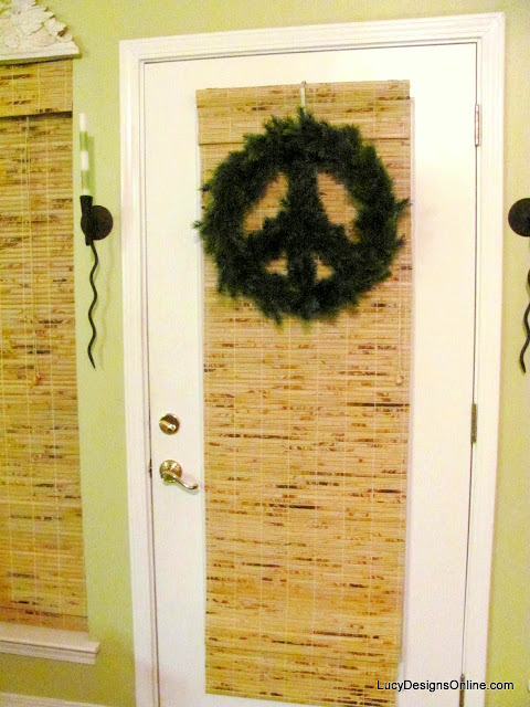 peace sign Christmas wreath