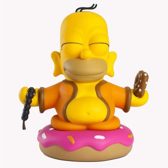 Funny Homer Buddha sitting on a donut