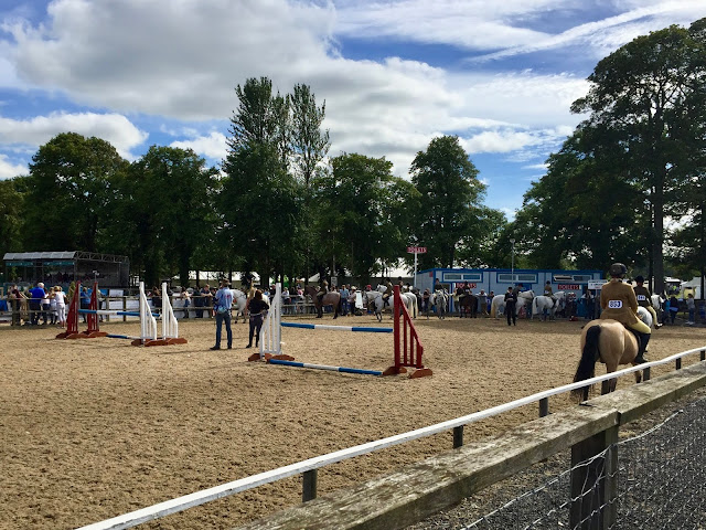 Equestrian arena at the Royal Highland Show, Edinburgh, Scotland