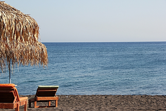 Perivolos Perissa beach Santorini island