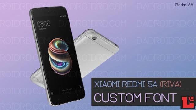 Cara ganti Font Xiaomi Redmi 5A MIUI 9 mudah tanpa ROOT