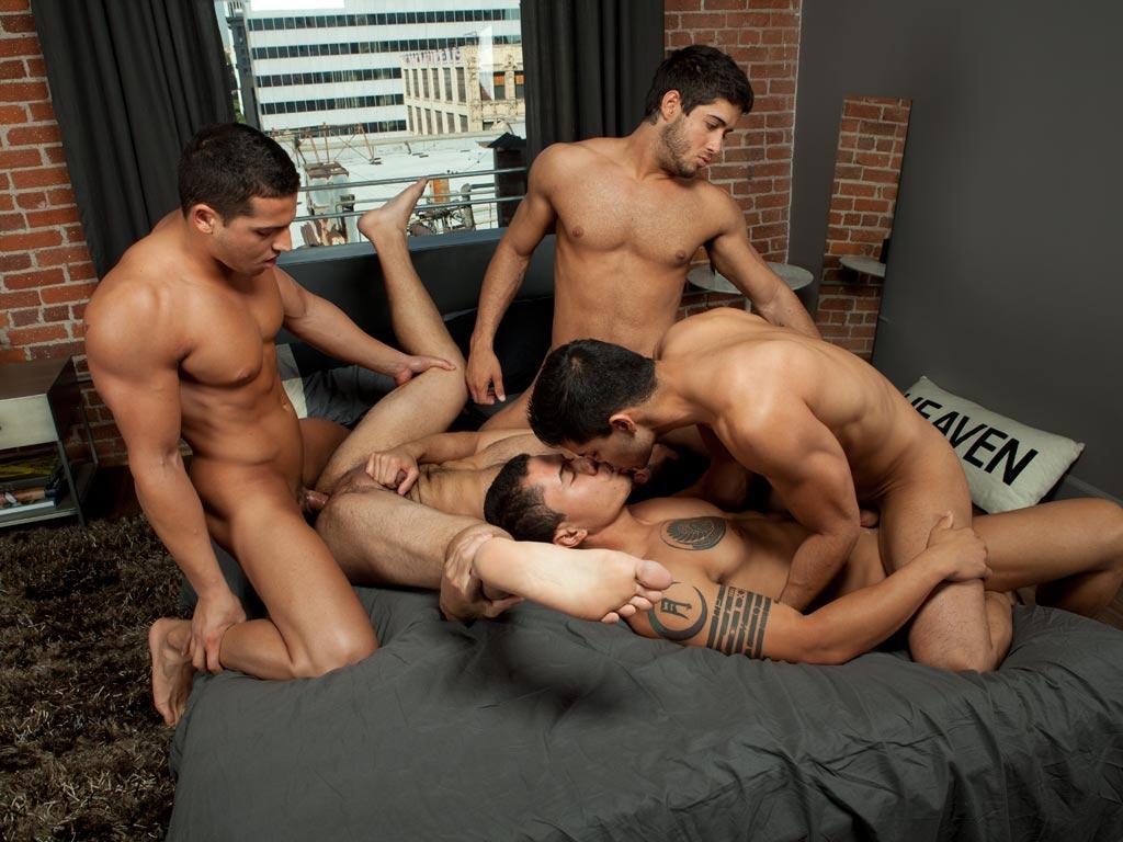 Gay latino orgy