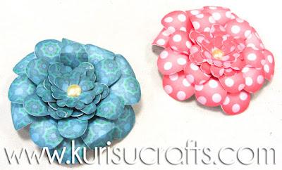 Tutorial flores de papel Kurisu Crafts