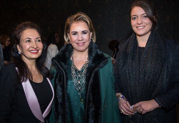 Grand Duchess Maria Teresa and her daughter Princess Alexandra attended the screening of the film I am Nojoom, age 10 and divorced