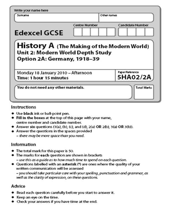 History Essay Structure Gcse