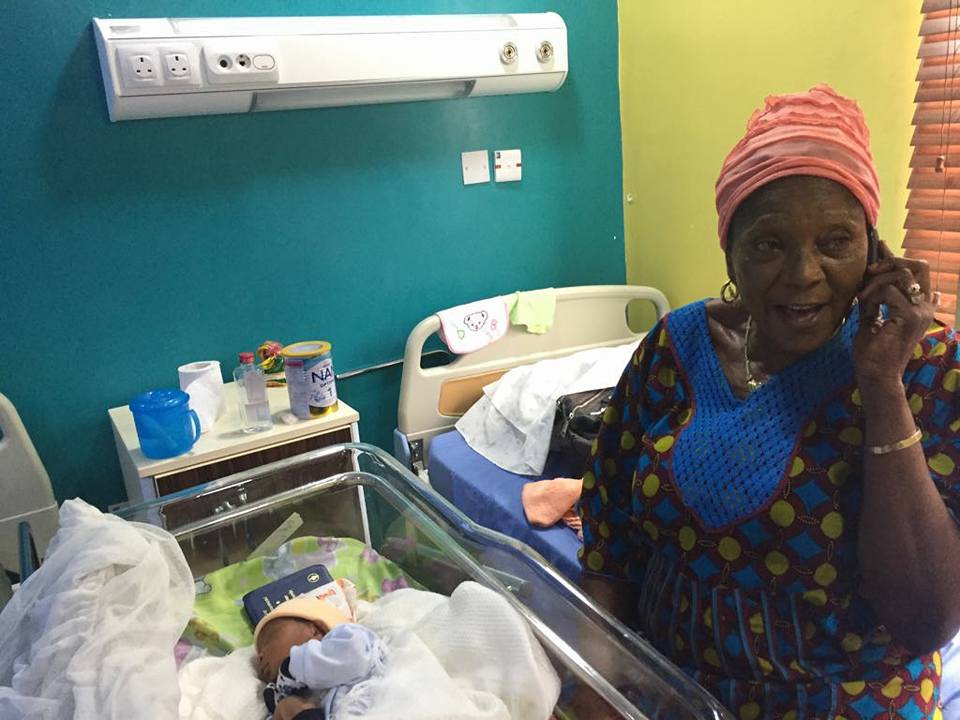 Jubilation As 63-Year-Old Nigerian Woman Welcomes Her First Child {Photos}