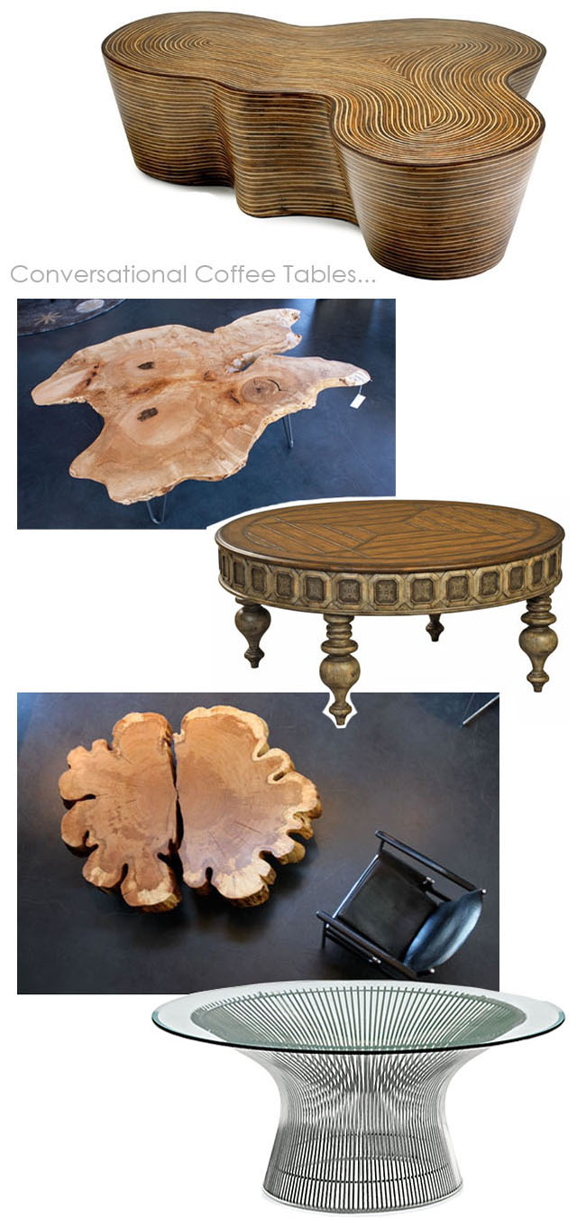 conversational and interestingly shaped coffee tables