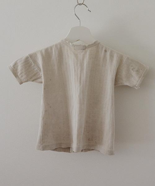 針抜 Tシャツ ジャパンヴィンテージ FUNS 40年代 キッズ 子供服 Japanese Vintage 40s Kids T-Shirt Grunge Stain