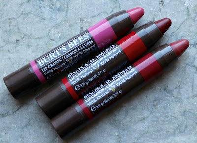 burts bees lip crayon review Hawaiian Smoulder Napa Vineyard Redwood Forest