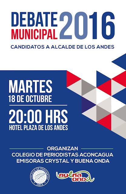 Colegio de Periodistas realiza este martes debate municipal con candidatos a la alcaldía de Los Andes