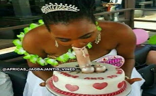 Black African woman deep throats on her wedding day