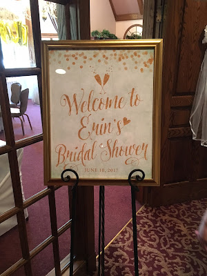 Mint and Gold Bridal Shower Welcome SIgn