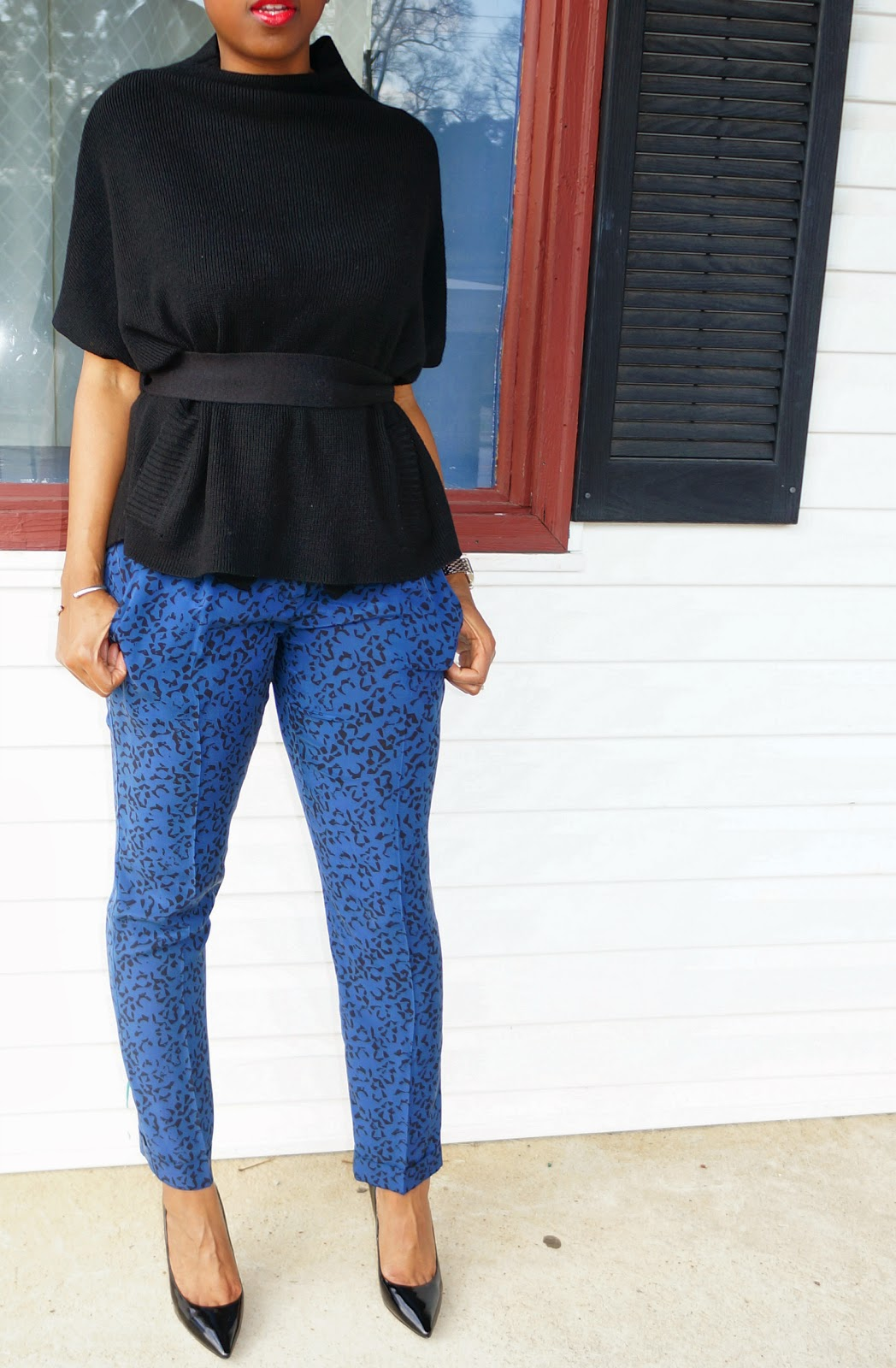 printed silk theory pants