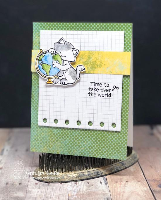 Graduation Card by Jennifer Timko | Newton's Graduation Stamp Set by Newton's Nook Designs #newtonsnook #handmade