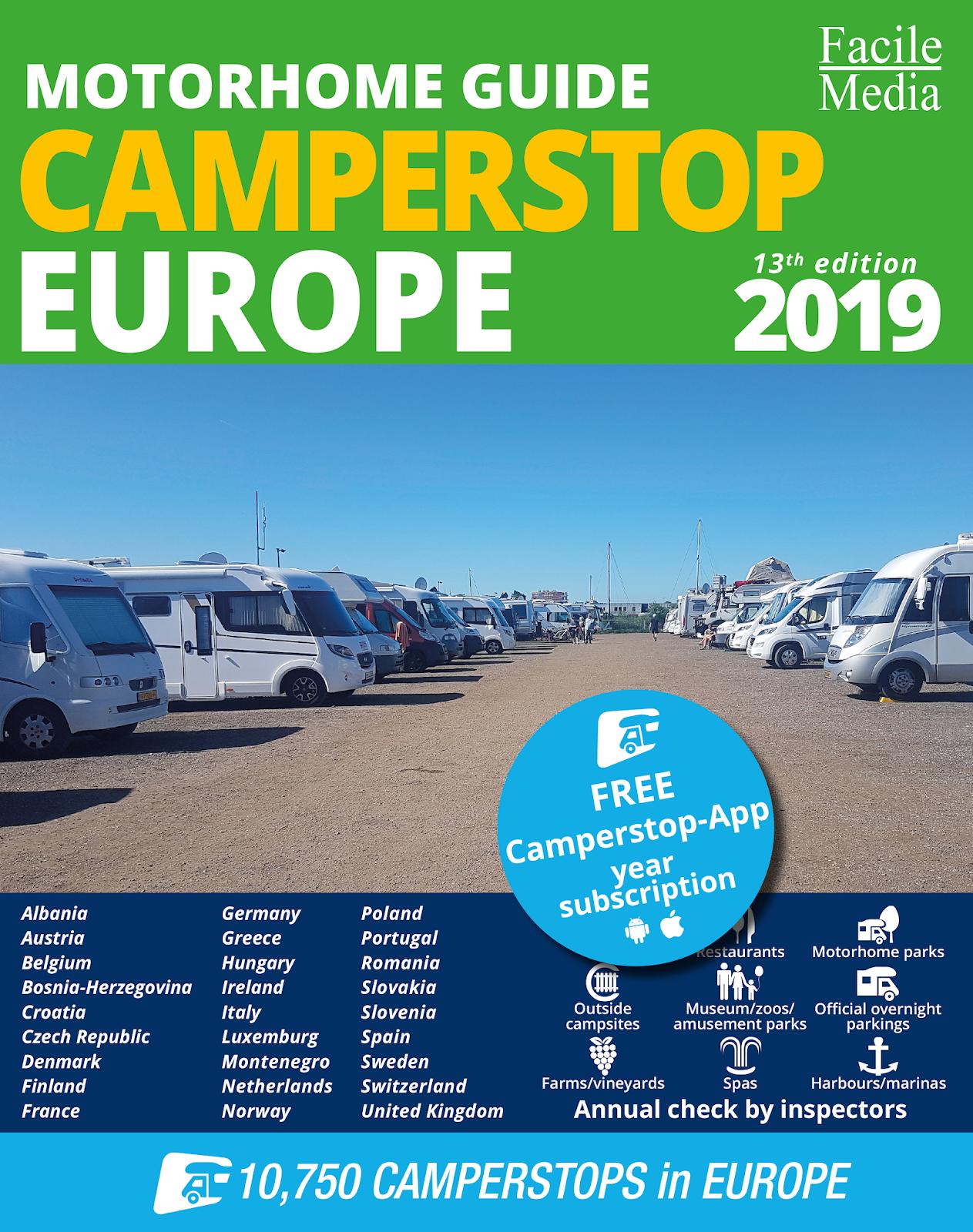 3a4679b41d1 Camperstop Europa 2019, la biblia del autocaravanismo europeo!