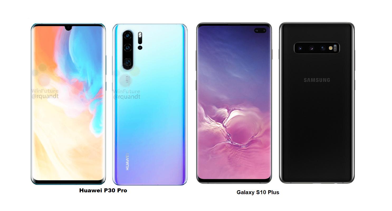 Samsung Galaxy S10 Plus Vs Huawei P30 Pro