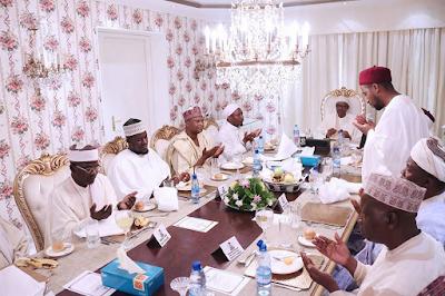 Photos: President Buhari hosts Abuja Imams and selected Individuals to Ramadan dinner