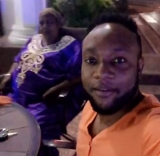 Billionaire E-money & brother Kcee hang out with their mum