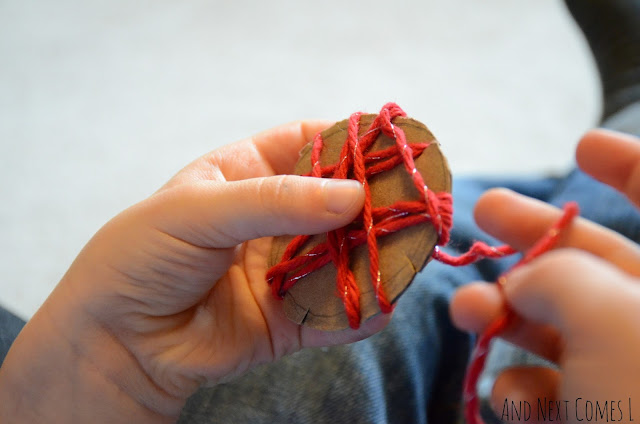 Fine motor cardboard craft idea