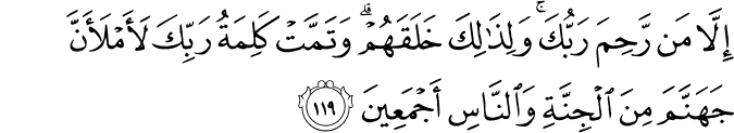 Surat Hud Ayat 119