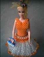 Vestidos Para Barbie feitos com continhas