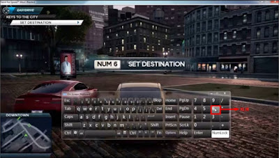 aktifkan numlock untuk mengatasi num 6 set destination need for speed