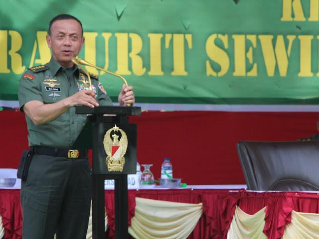 Mulyono Harapkan TNI AD Semakin Kembangkan Profesionalisme Prajurit