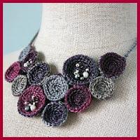 Collar de diseño a crochet