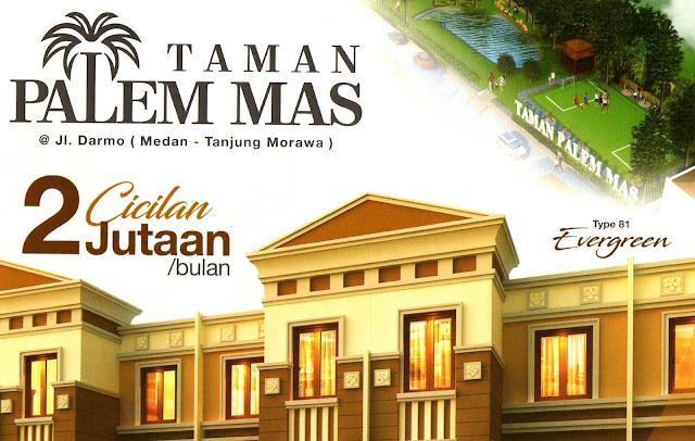 Dijual Hunian Eksklusif Diskon 30 JUTA Di Taman Palem Mas Tanjung Morawa Medan Sumatera Utara - 081283838397