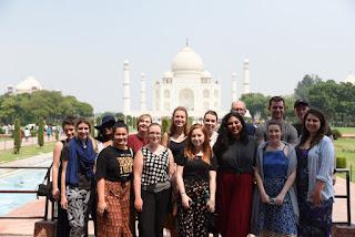 Students from Macquarie University, Australia on India study tour